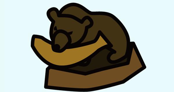 木彫りのクマ