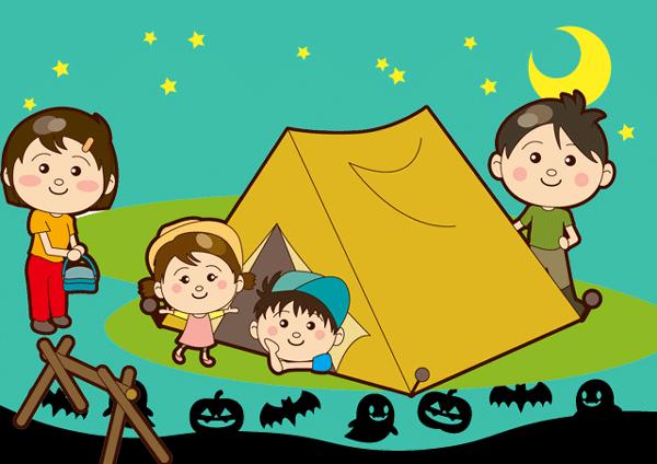 ハロウィンキャンプのイラスト
