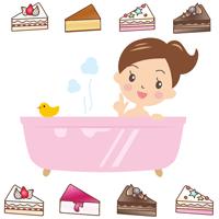 ケーキ石鹸のイメージイラスト