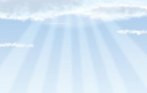 天国のシンプルなイラスト